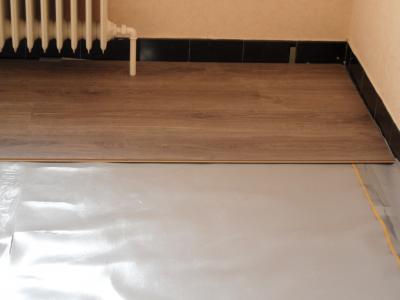 Pose d un parquet type quickstep r novation de sol - Pose sous couche parquet quick step ...